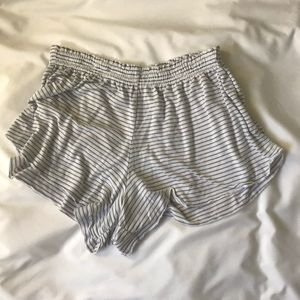 super soft white and blue stripped shorts